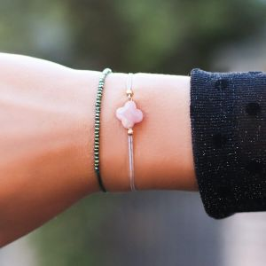Light Pink Clover Bracelet