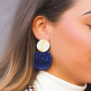 Blue Shell Earring