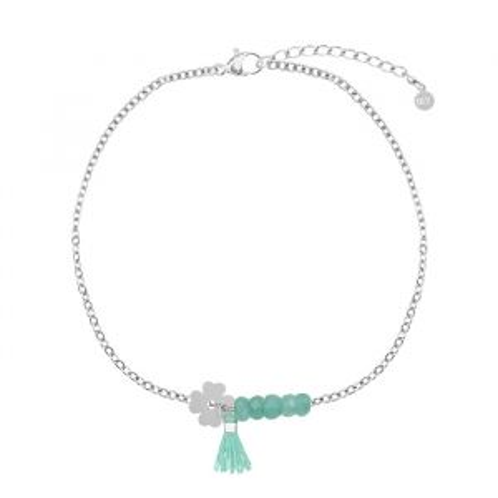 Turquoise klaver armband