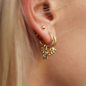 Small Open Star Hoops