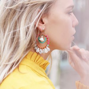 Multicolored Marmer Earrings