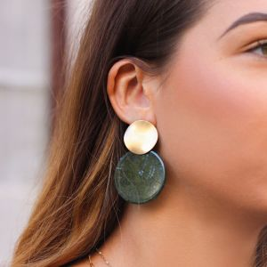 Green Shell Earring