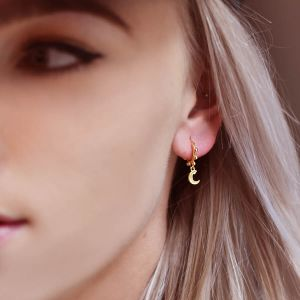 Half Moon Earring Dots