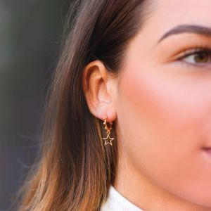 Star Earring Open Dots