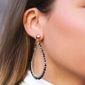 Blue Crystal Teardrop Earring