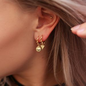 Earring Triangle Dots