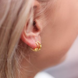 Small Round Hoops - Gold