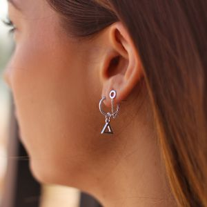 Small Open Triangle Hoops