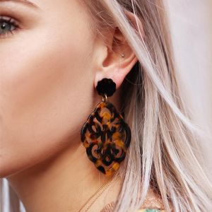 Brown Small Chandelier Earrings