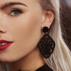 Black Small Chandelier Earrings