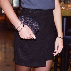 Suedine Star Wrap Skirt
