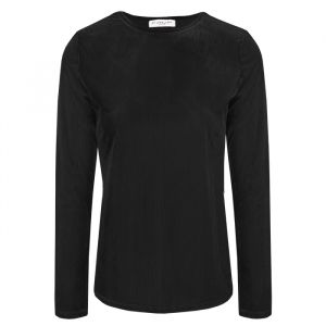 Black Velvet Rib Long Sleeve