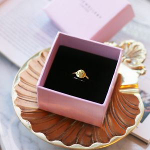 Open Initial Ring - Gold