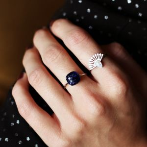 Blue Big Stone Ring
