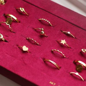 Gold Ring Little Dots