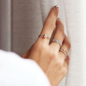 Silver Open Ring Studs