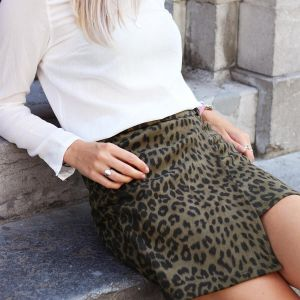Suedine Wrap Skirt - Dark Green