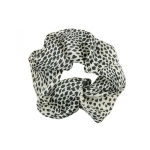 Zwart & wit geprinte scrunchie