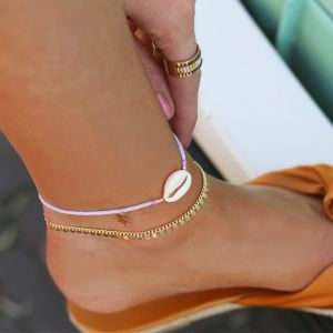 Shell Anklet - Purple