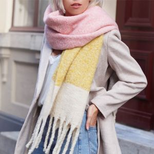 Pink & Yellow Colorblock Scarf
