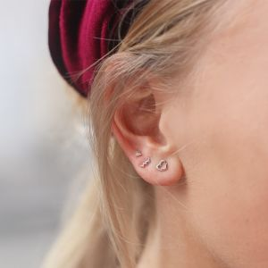 Earstuds Small Triangle - Gold/Silver/Rose