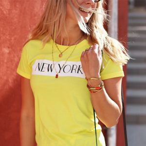 City Shirt New York - Yellow
