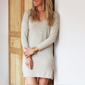 Basic Sweater Dress - Beige