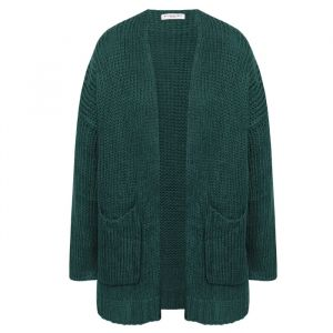 Dark Green Knitted Comfy Cardigan