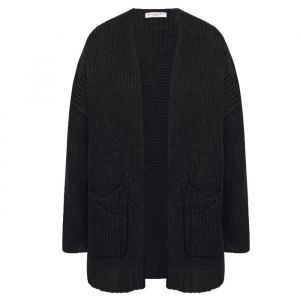 Black Knitted Comfy Cardigan