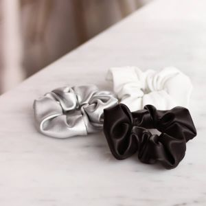 White Faux Leather Scrunchie