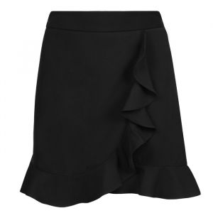 Black Ruffle Mini Skirt-XS
