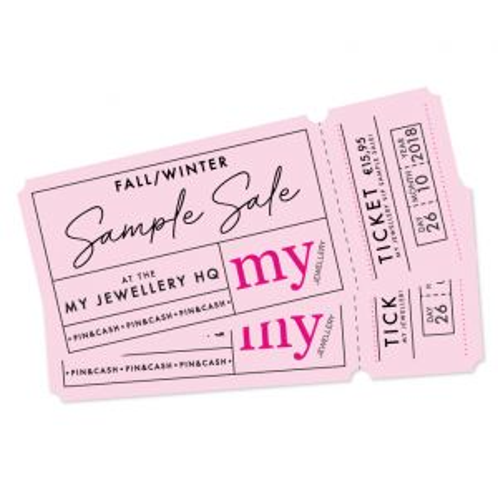 Sample Sale Ticket - vrijdag 26/10 - 14:00 - 17:00h
