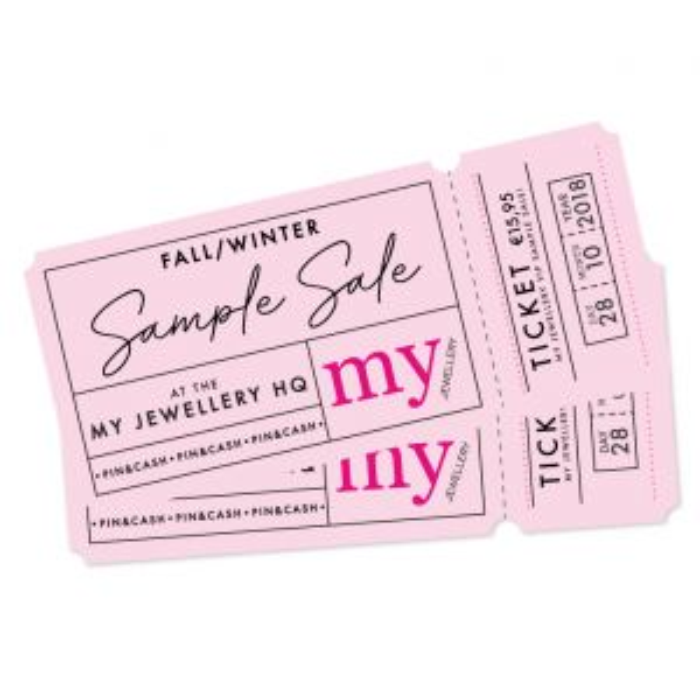 Sample Sale Ticket - zondag 28/10 - 14:00 - 17:00h