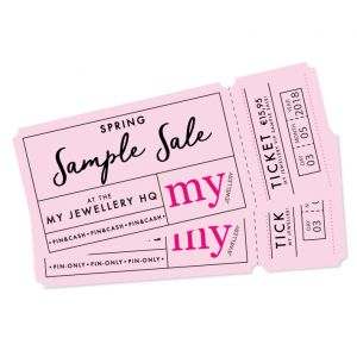 Sample Sale Ticket - 3 Mei 10:00 - 13:00h