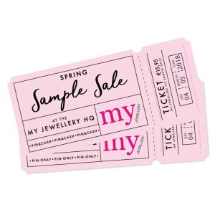 Sample Sale Ticket - 4 Mei 10:00 - 13:00h