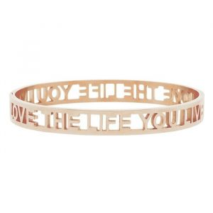 Armband rose goud quote