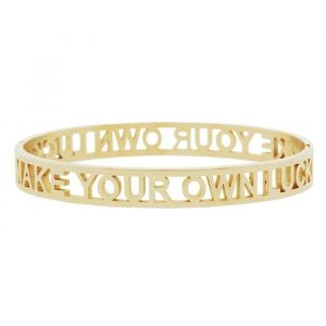 Make Your Own Luck Bangle - Gold