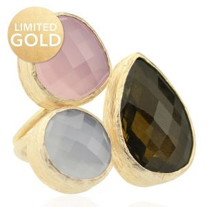 Limited My Jewellery Gold Trio Gem Ring