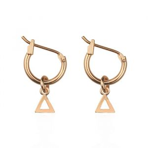 Small Open Triangle Hoops - Gold/Silver/Rose