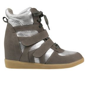 Wedges - Taupe/Silver