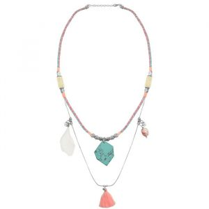Layer Ibiza Necklace - Pastel Pink