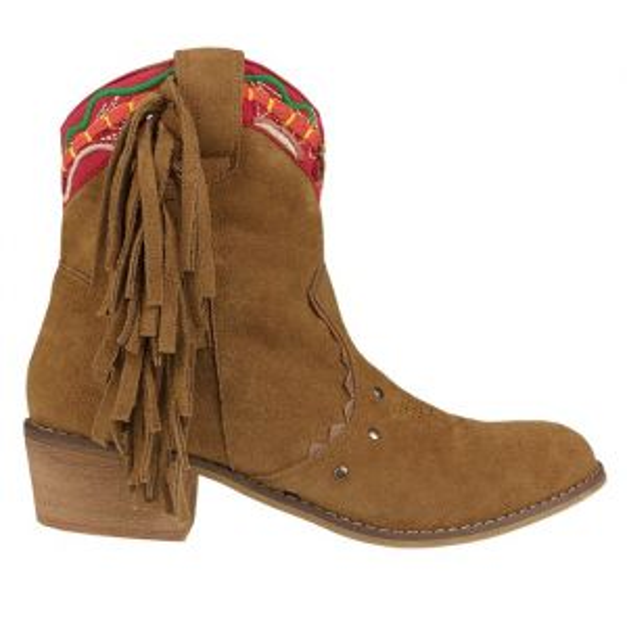 Festival Fringe Boots - Camel