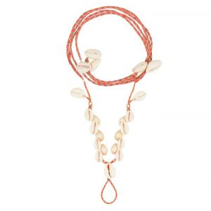 Shell Barefoot Anklet - Coral