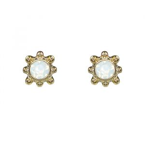 Sunshine Studs White - Silver/Gold