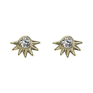 Spikes Studs Silver - Silver/Gold