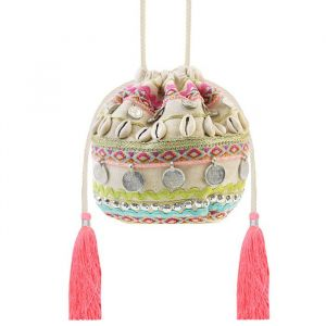Tassel & Shell Bag - Beige