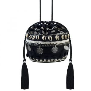 Tassel & Shell Bag - Black