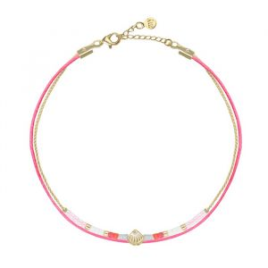 Shell Little Beads Bracelet -  Pink/Gold