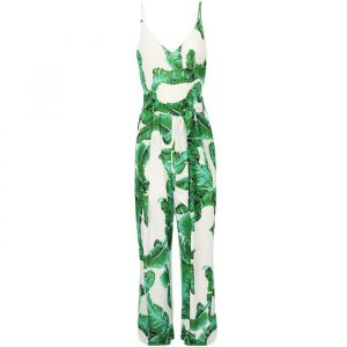 Leaf Jumpsuit - White