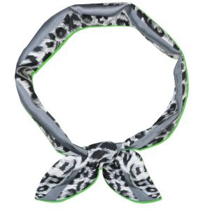 Small Leopard Scarf - Green